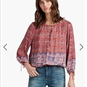 Lucky Brand Tapestry Print Top